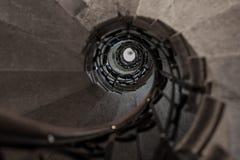 upward stone spiral stairway Stock Photography