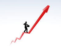 Upward trend and career. Illustration of upward trend, success and career Royalty Free Stock Image