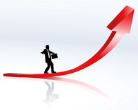 Upward trend and career. Illustration of upward trend, success and career Stock Image