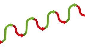 Upward Trend Gradual Increase Symbol Arrows Royalty Free Stock Image
