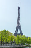Upward View of Eiffel Tower, Paris, France Stock Photo