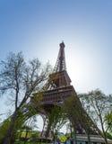 Upward View of Eiffel Tower, Paris, France Stock Photography