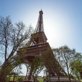 Upward View of Eiffel Tower, Paris, France Stock Images