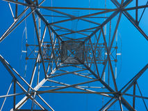 Upward view of hydro tower Stock Photos