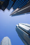 Upward View In Downtown Of Toronto Royalty Free Stock Photo