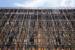 Upward view of scaffolding pipes Royalty Free Stock Photography