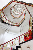 Upward view of spiral stairways Stock Photography