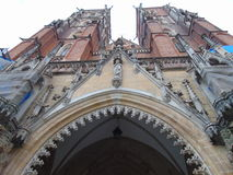 Upward View of St. John the Baptist Cathedral Stock Photos
