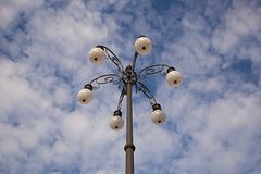 Upward view of street light Royalty Free Stock Image