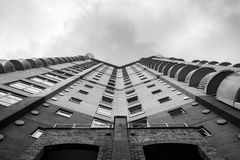Upward view of tall building Royalty Free Stock Image