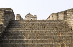 Upward Wide Staircase at Great Wall Royalty Free Stock Photography