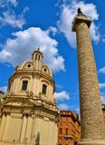 Upwards View in Rome Stock Image