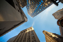 Upwards view of skyscrapers Royalty Free Stock Image