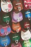 Uqueleles coloridas em um mercado Imagem de Stock Royalty Free