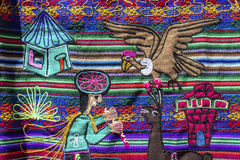 Uquia op Quebrada DE Humahuaca in Jujuy, Argentinië Royalty-vrije Stock Foto's