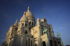 Ur de Montmartre Ла Basilique du Sacré CÅ «в Париже Франции Стоковое Изображение RF