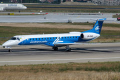 UR-DNG Diniproavia, Embraer ERJ-145EP Photo libre de droits