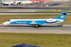 UR-DNR Diniproavia Embraer ERJ-145EU Imagem de Stock