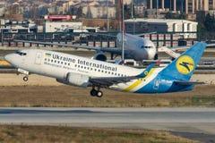 UR-GAK Ukraine International Airlines, Boeing 737-5Y0 Image libre de droits