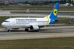 UR-GBC Ukraine International Airlines, Boeing 737-5L9 Photo libre de droits