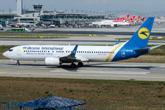 UR-PSE Ukraine International Airlines, Boeing 737-800 Image stock