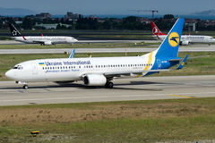 UR-PSP Ukraine International Airlines, Boeing 737-800 Photo stock