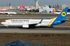 Ur-PSS διεθνείς αερογραμμές της Ουκρανίας, Boeing 737 - 800 Στοκ εικόνα με δικαίωμα ελεύθερης χρήσης