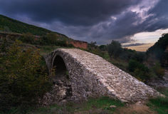Ura E Brarit, otomanu most obrazy stock