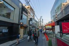 Ura-Harajuku ulica w wieczór Zdjęcie Stock