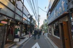 Ura-Harajuku ulica w wieczór Zdjęcie Royalty Free