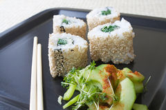 Ura Maki Sushi Royalty Free Stock Photo
