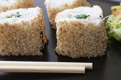 Ura Maki Sushi Royalty Free Stock Photography