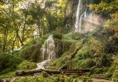 Urach vattenfall Arkivbild