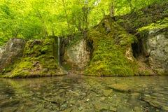Uracher Wasserfälle, плохое Urach, Германия Стоковые Изображения