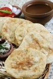 Urad dal puri with Coconut chutney from India Stock Image