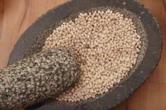 Urad Dal - uma lentilha de uso geral em receitas indianas Fotos de Stock Royalty Free