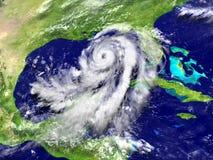Uragano enorme Matthew in golfo messicano illustrazione di stock