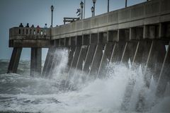 Uragano Irma Remnants Fotografia Stock Libera da Diritti