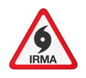 Uragano Irma Warning Sign Isolated Fotografia Stock