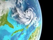 Uragano nell'Atlantico illustrazione vettoriale