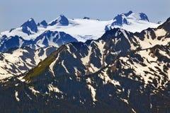 Uragano Ridge delle montagne della neve del Olympus di supporto fotografia stock