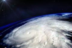 Uragano su terra Fotografia Stock Libera da Diritti