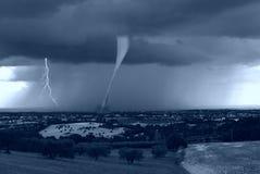 Uragano sulla città Fotografie Stock
