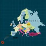 Uragano - tempesta Leslie verso il Portogallo e la Spagna Danno di uragano Territorio di Europa Illustrazione di vettore royalty illustrazione gratis