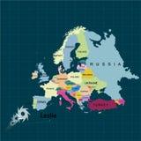 Uragano - tempesta Leslie verso il Portogallo e la Spagna Danno di uragano Territorio di Europa Illustrazione di vettore illustrazione di stock