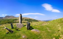 Uragh Stone Circle. On Beara, Ireland Stock Image