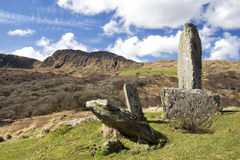 Uragh Stone Circle on Beara Peninsula Irish West Coast. One of my favourite places in Ireland is the Beara peninsula, a piece of rugged land shared between Cork royalty free stock images