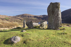 Uragh Stone Circle, Kerry, West Coast of Ireland. One of my favourite places in Ireland is the Beara peninsula, a piece of rugged land shared between Cork and Stock Photos