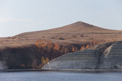 Urakov a hillock. On the bank of the river of Volga royalty free stock image
