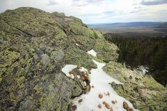 ural的山 国家公园Taganay 车里雅宾斯克区,俄罗斯 库存图片